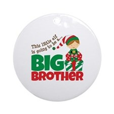 Elf Big Brother To Be Ornament (Round)