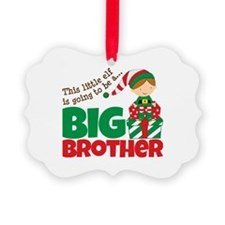 Elf Big Brother To Be Ornament