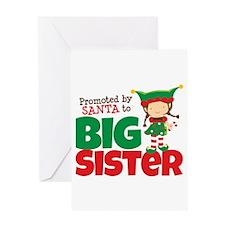 Elf Big Sister To Be Greeting Card