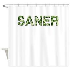 Saner, Vintage Camo, Shower Curtain