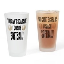 Cute Softball team Drinking Glass