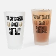 Unique Softball Drinking Glass