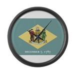 Flag of Delaware Large Wall Clock