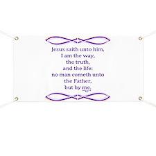 Bible Verse John 14 6 Banner