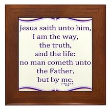 Bible Verse John 14 6 Framed Tile