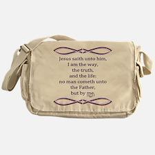 Bible Verse John 14 6 Messenger Bag