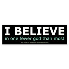 One Fewer God Bumper Sticker