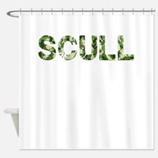 Scull, Vintage Camo, Shower Curtain