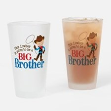 Cowboy Big Brother To Be Drinking Glass