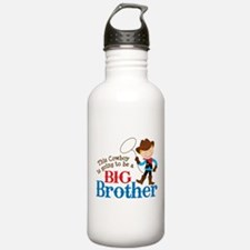 Cowboy Big Brother To Be Water Bottle