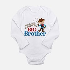 Cowboy Big Brother To Be Long Sleeve Infant Bodysu