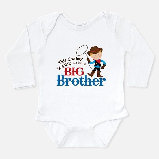 Cowboy Big Brother To Be Long Sleeve Infant Bodysu