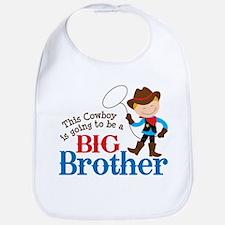 Cowboy Big Brother To Be Bib