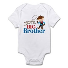 Cowboy Big Brother To Be Infant Bodysuit