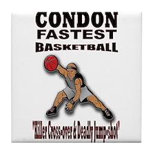 CONDON FASTEST BASKETBALL Tile Coaster