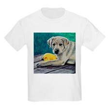 My Ducky Yellow Lab Pup Kids T-Shirt