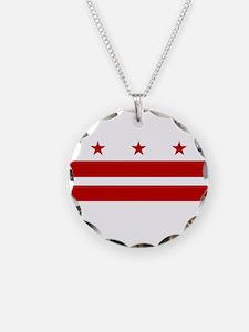 Flag of D.C. Necklace