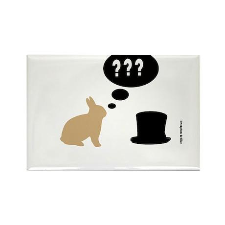 magic rabbit Rectangle Magnet