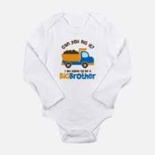 Dump truck Big Brother To Be Long Sleeve Infant Bo