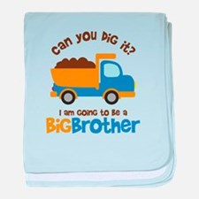 Dump truck Big Brother To Be baby blanket