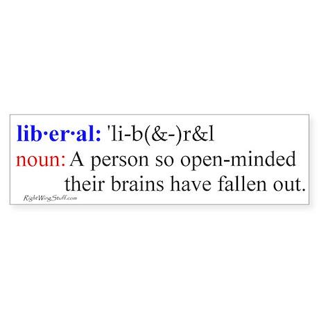 Liberal Definition Bumper Bumper Sticker By Rightwingstuff