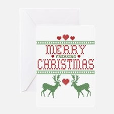 Cross Stitch Christmas Greeting Card
