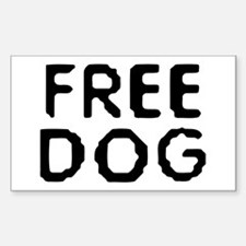 Free Dog Rectangle Decal