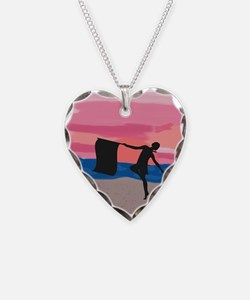 Colorguard Dancer at Sunset Necklace