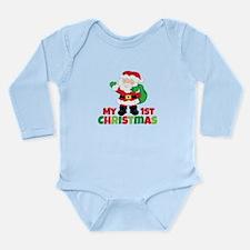 Santa Babies 1st Christmas Long Sleeve Infant Body