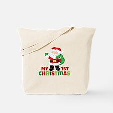 Santa Babies 1st Christmas Tote Bag