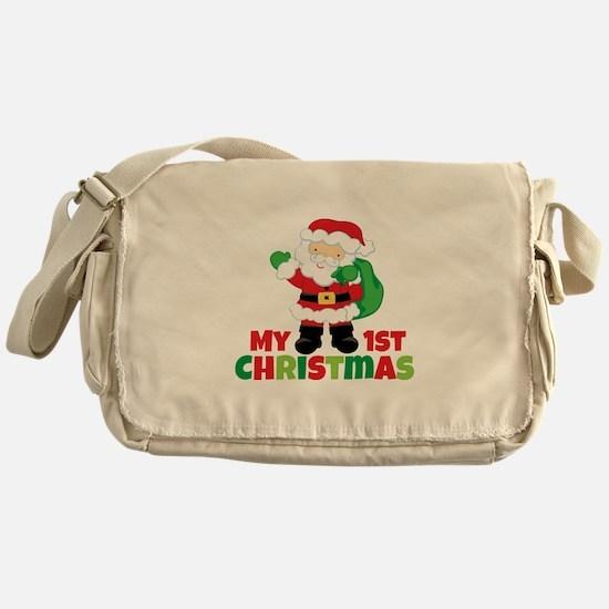 Santa Babies 1st Christmas Messenger Bag