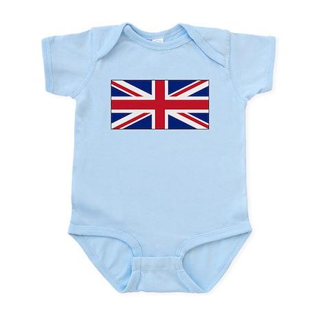 United Kingdom UK Flag Infant Bodysuit