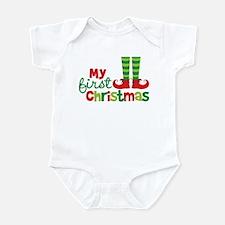 Elf Feet Babies 1st Christmas Infant Bodysuit