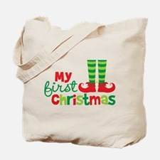 Elf Feet Babies 1st Christmas Tote Bag