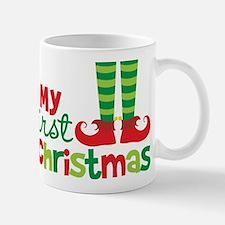 Elf Feet Babies 1st Christmas Mug