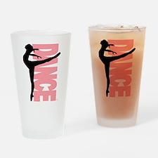 Beautiful Dance Figure Drinking Glass