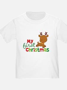 Santa Reindeer Babies 1st Christmas T