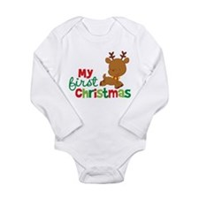 Santa Reindeer Babies 1st Christmas Long Sleeve In