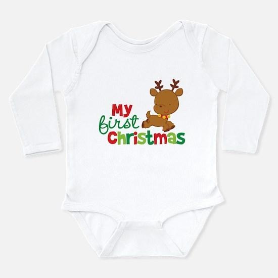 Santa Reindeer Babies 1st Christmas Onesie Romper Suit