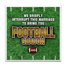 """Football Season"" Tile Coaster"