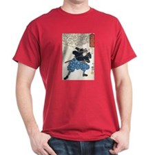 Miyamoto Musashi Two Swords Red T-Shirt