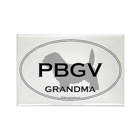 PBGV GRANDMA Rectangle Magnet