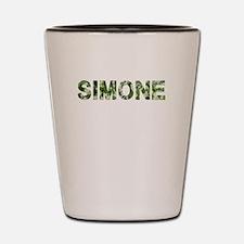 Simone, Vintage Camo, Shot Glass