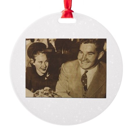Bette and carl Round Ornament