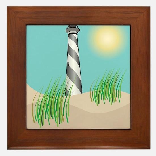 North Carolina - Cape Hatteras Framed Tile