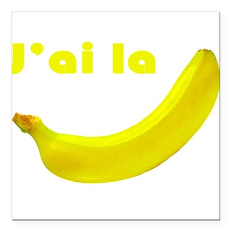 "banane Square Car Magnet 3"" x 3"""