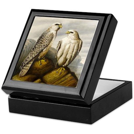 Painted Falcons Keepsake Box