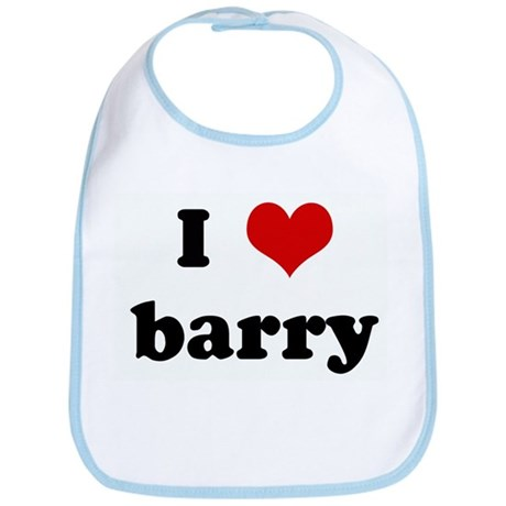 I Love barry Bib