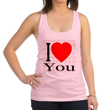 64hearts_iheartyou.png Racerback Tank Top
