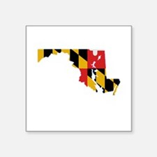 Maryland Stripe Custom Design Rectangle Sticker